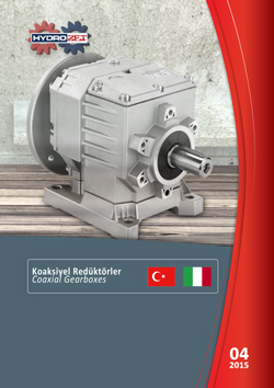 Hydromec aluminum coaxial gearboxes product catalogue