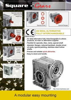 hydromec / hydro-mec square worm gearboxes product brochure
