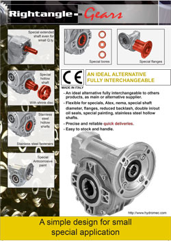 Hydromec round worm gearboxes brochure
